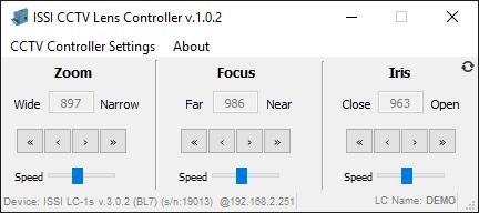 CCTV Lens Controller Demo Software